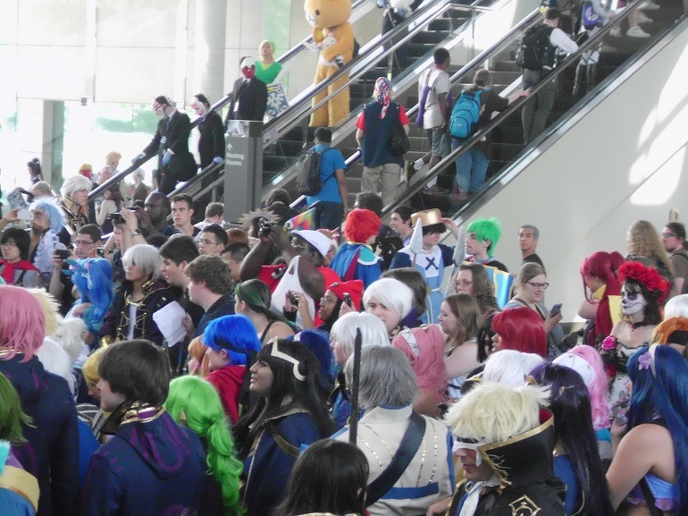 Image: Crowds at the Baltimore Convention Center during Otakon 2015-Art