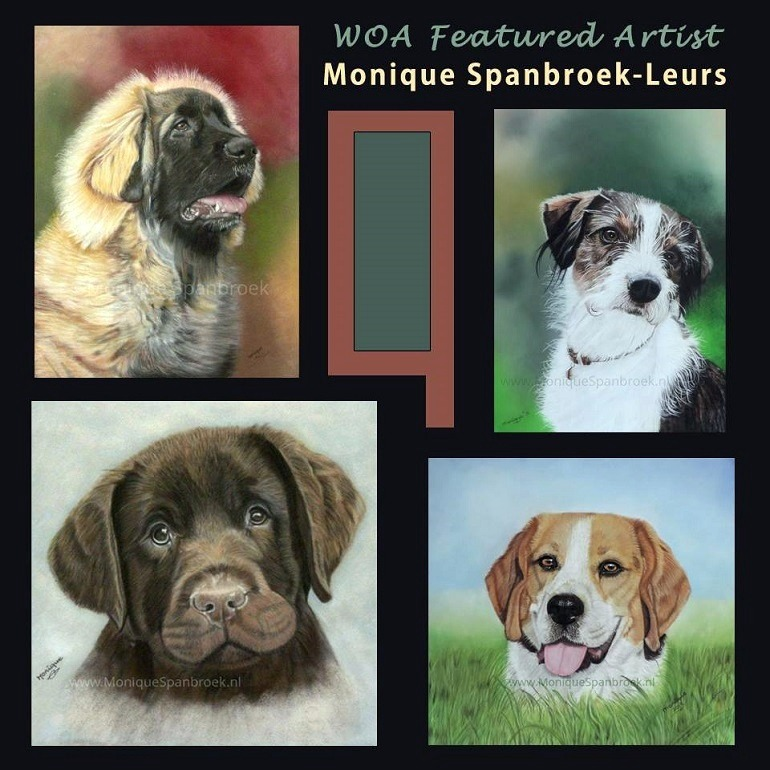 Image: Dog Portraits by Monique Spanbroek-Leurs, one of Work of Art Contest featured artists