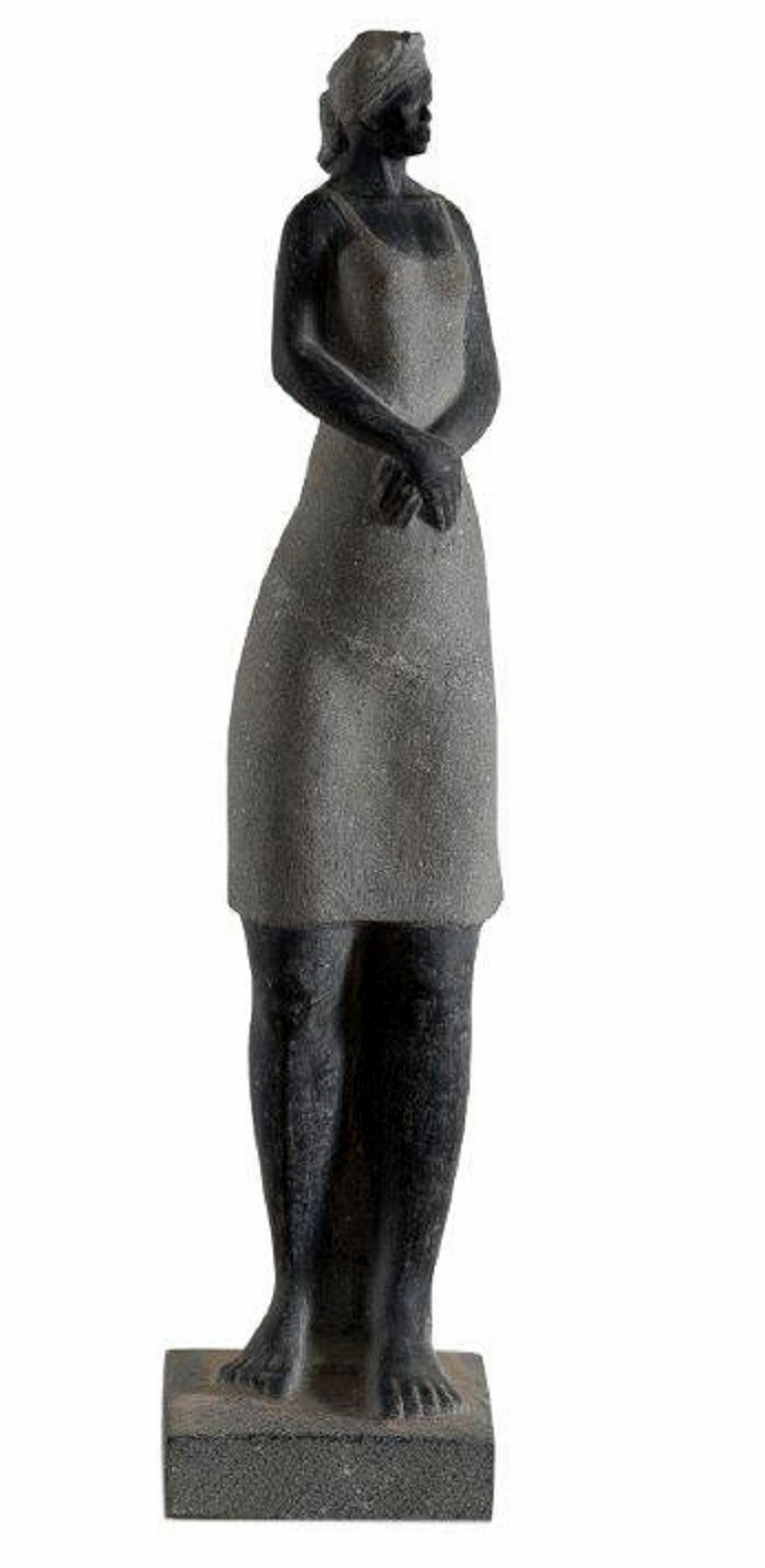 Image: Hani Faisal's sculpture titled Standing Girl is one the sculptures on display at the Al Masar Gallery in Egypt-Art