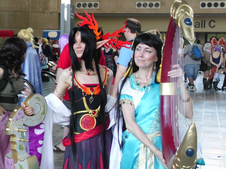 Image: Two beautiful women during Cosplay at the Baltimore Convention Center during Otakon-News
