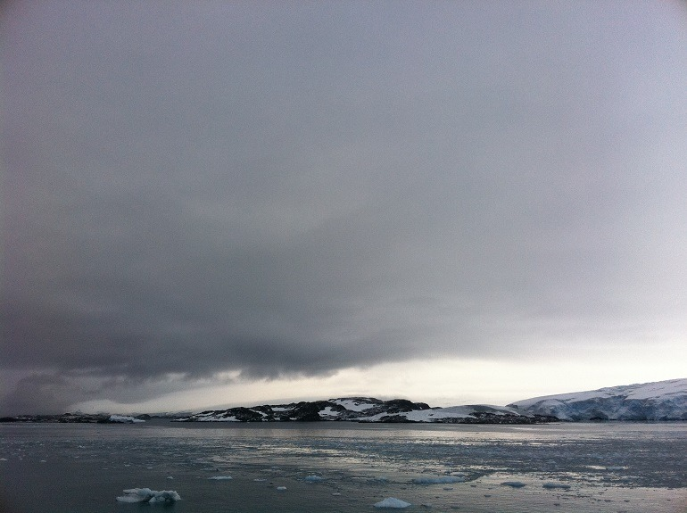 Image: L.S. Glasergreen's Light in the distance, is one of the photographs from his Antarctica trip- art pictures