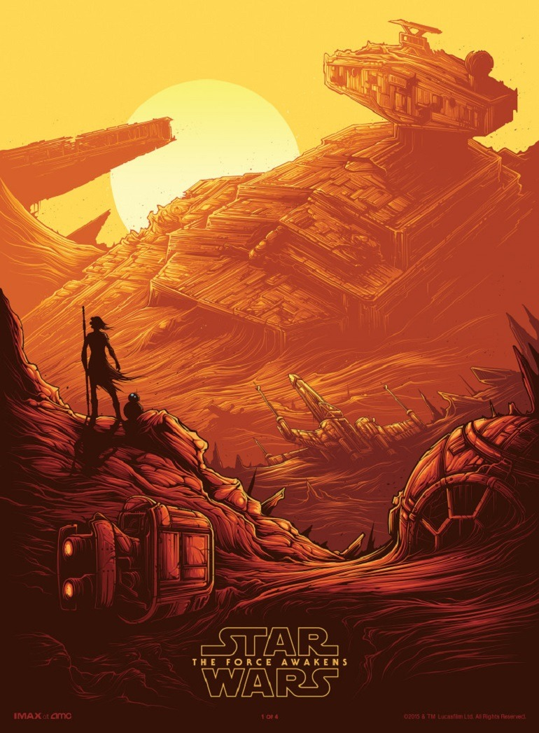 Image: Dan Mumford, Star Wars: The Force Awakens Art Movie Poster -Entertainment News