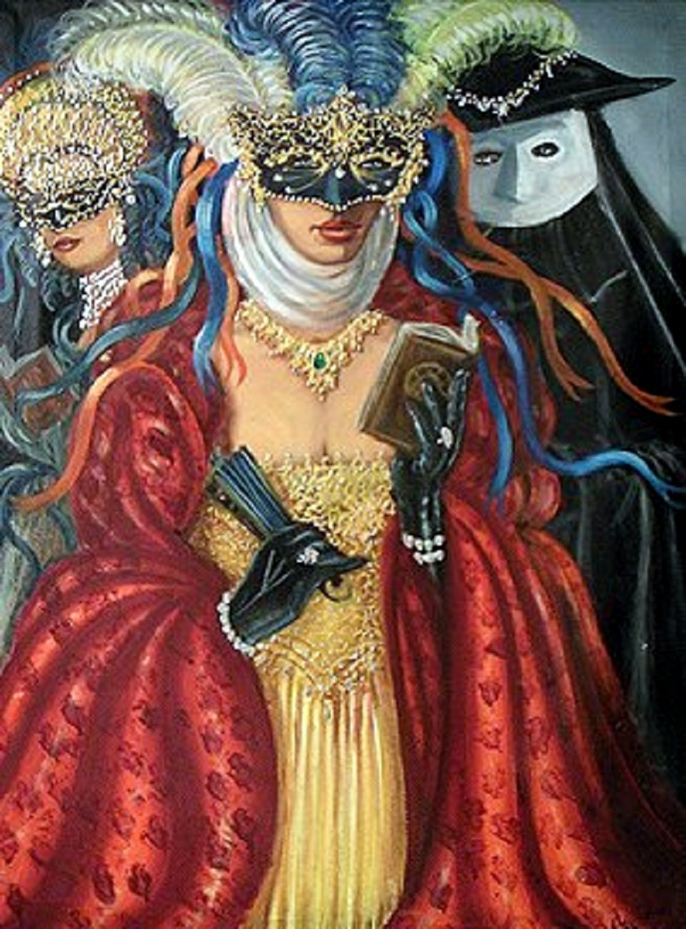 "Image: Alex Sanchez Torres, Carnivale, oil on Canvas 40"" x30 ""- Baltimore galleries"