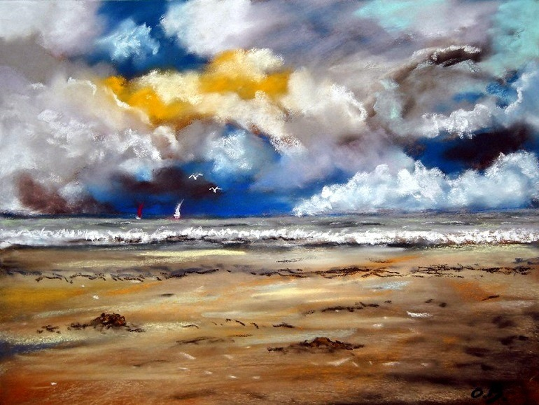 Image: Angry Sky by Olivier Brisson, a member of Les amis du peintre, one of the Facebook groups