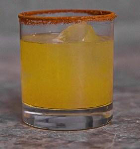 Image: Civil cocktail, a drink mimetic of Aztecs culture