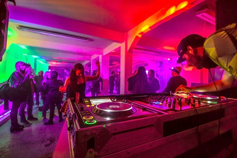 Image: Sangree, installation view of Tenochtitlan, an Absolut Art Bar in Mexico City, 2016 highlighting Aztecs culture