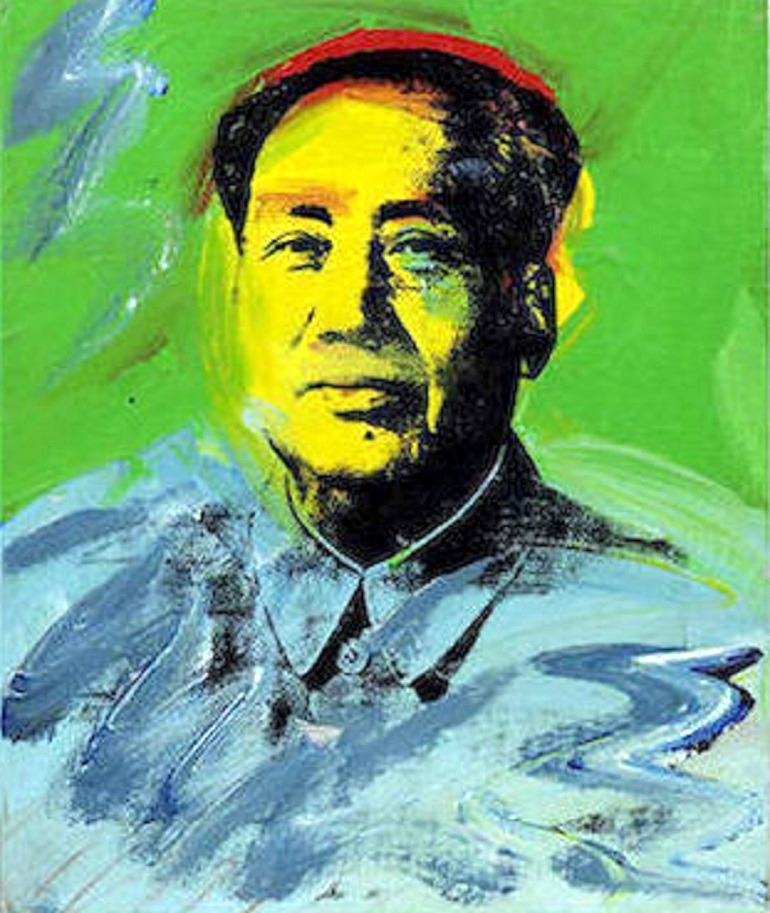 Image: Mao, a painting by Andy Warhol, sold for US$ 1,437,954 at Bonhams Post-War and Contemporary