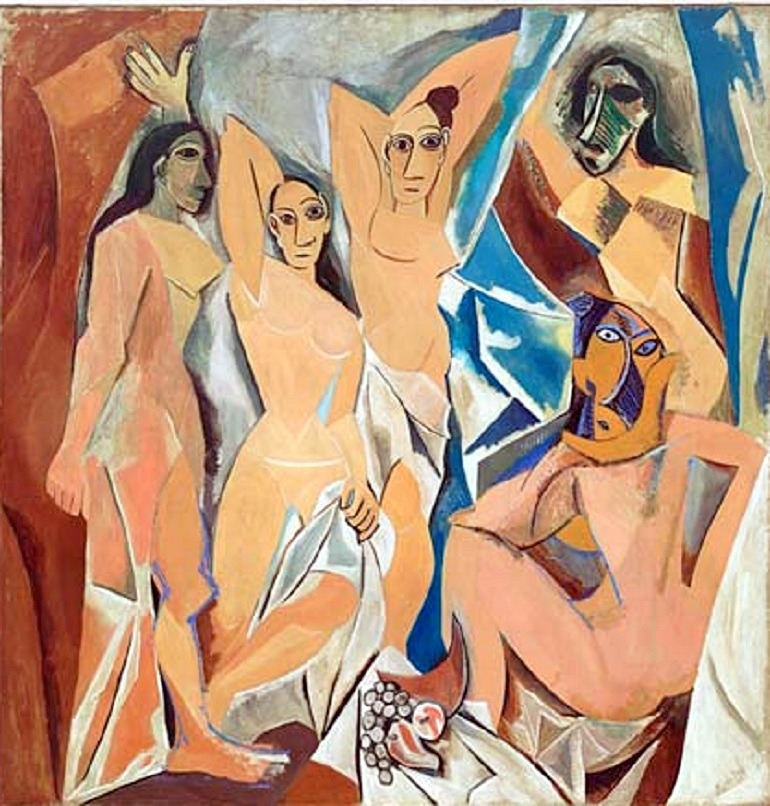 Image: Les Demoiselles d'Avignon by Pablo Picasso depicts several nude women in this seminal artwork which shows his restless search for new ways of expressing his ideas