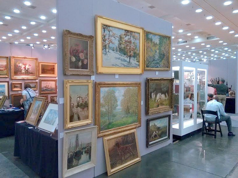 Image: Art on display during the Baltimore Art, Antique & Jewelry Show