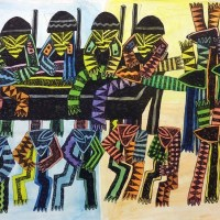 Image: Apesar de tudo by Celestino Mudaulane on display at the 1:54 Contemporary African Art in London