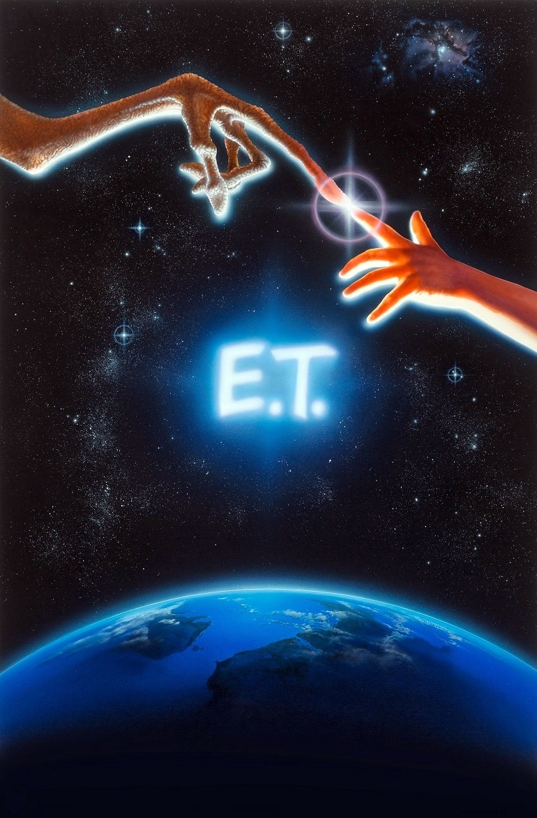 Image: Original movie poster artwork for Steven Spielberg's masterpiece 'E.T. the Extra-Terrestrial' by John Alvin sells for $394,000