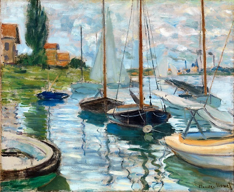 Impressionists love of water boats and art revealed for Wine therapy boat sf