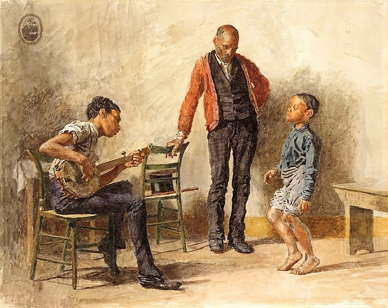 Image: The Dancing Lesson (Negro Boy Dancing) by Thomas Eakins is one of the paintings on display in American watercolor at the Philadelphia Museum of Art