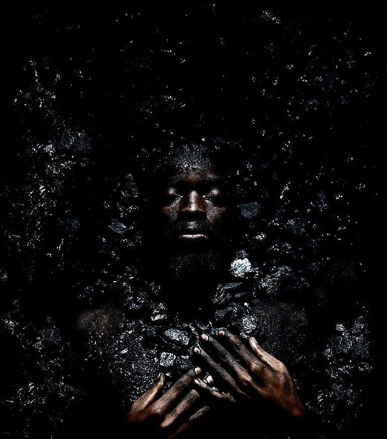 Image: Lefa 6, an Inkjet on Epson Hot Press Natural photography by Mohau Modisakeng, one of the young African artists at the 1: 54 Contemporary African Art Fair in New York