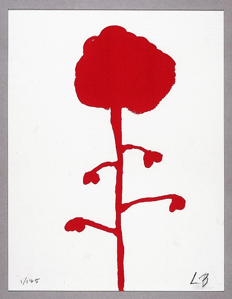 Image: Les Fleurs, a 2009 Silkscreen on Magnani paper by the celebrated French-American artist Louise Bourgeois