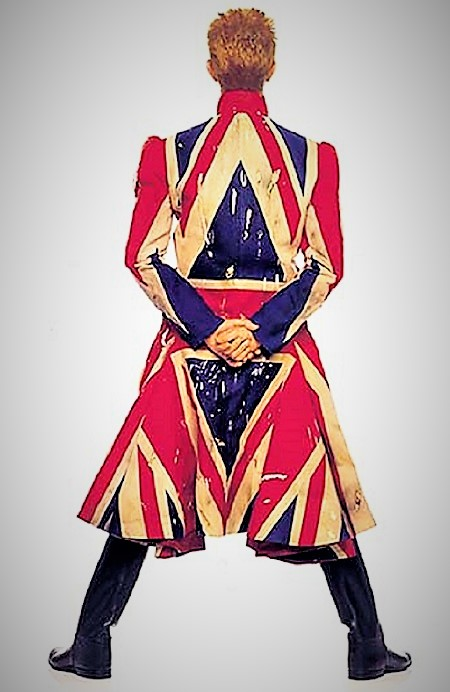 Image: David Bowie wearing Union Jack coat designed by Alexander McQueen will be one of the major images that New Yorkers will enjoy when David Bowie Is comes to the Brooklyn Museum