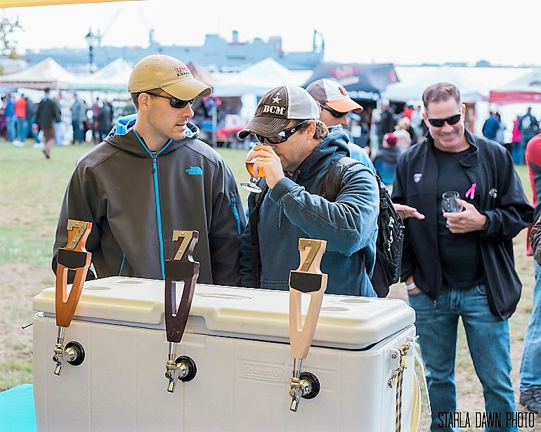 Image: During the Baltimore Craft Beer Festival, guests taste Homebrew as they celebrate Baltimore Beer-Festival