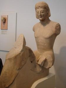 Le cavalier Rampin, 550 BC, marbre, 110 cm, Louvre