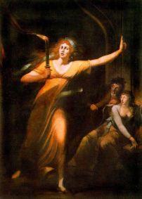 Füssli, Lady Macbeth somnambule