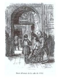 """""""Salle de 1792"""", vignette de Versailles, ancien et moderne d'Alexandre de Laborde, 1837, p.283"""