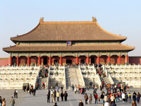 Ice sledges - Beijing - forbidden city