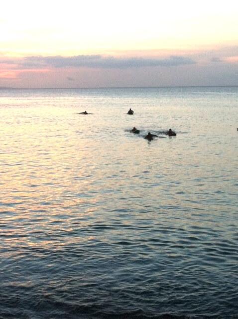 sea burial - more family returns