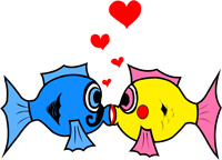 personal preference - fish kissing