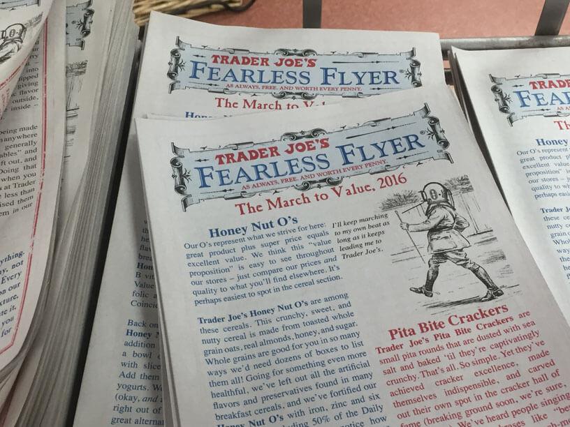 Trader Joe's Fearless Flyer brochure