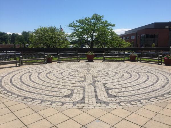 Maze in Beaumont Hospital roof garden, Grosse Pointe, Michigan