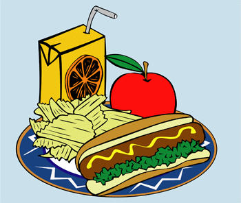 healthy food - plate of food
