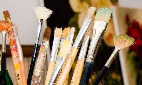 пензлі для малювання олійними фарбами