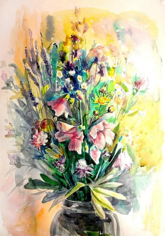 Akvarel'nyy etyud s tsvetami (1)