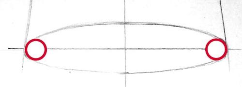 Изображение эллипса в основании конуса