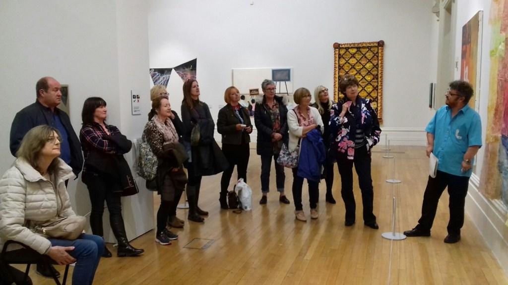 beginners, art class, merseyside, members on a visit to the walker art gallery, liverpool