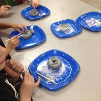 4th Grade Finishes Thiebaud-Inspired Ceramic Donuts (Part 2 of 2 Bisque)