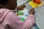 4th Grade - Painting Stained Glass (2)