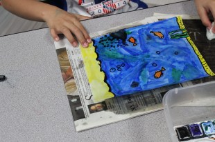 4th Grade Stained Glass Oiling (1)