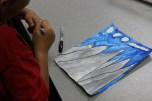 4th Grade Stained Glass Outlines and Painting (5)