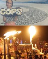 Megan Mantia and Leone Reeves, Burning Man, Black Rock Desert, Nevada, 2013