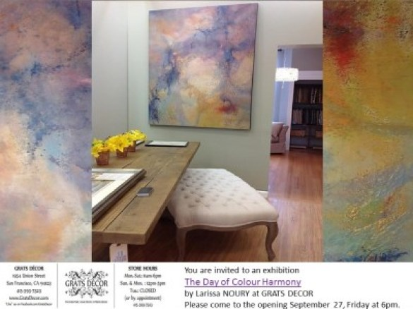 Invitation for Colour day , Larissa Noury at Grats Decor