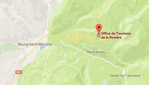 Carte La rosières Hte Alpes