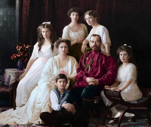 famille Nicolas II couleur