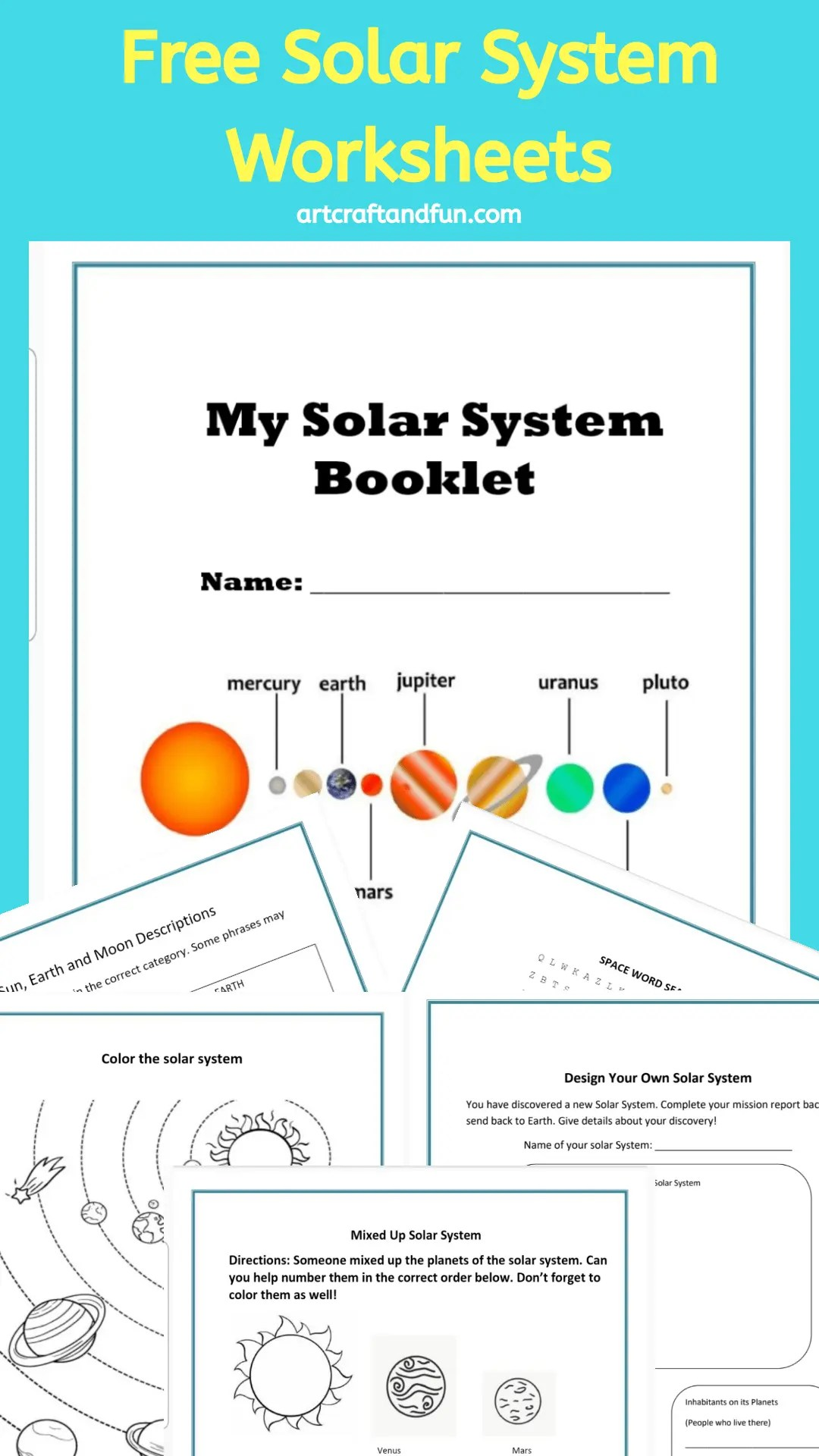 Solar System Worksheets Archives