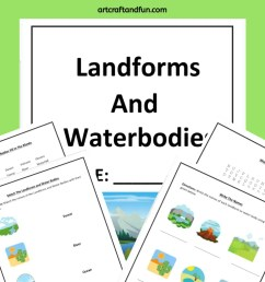 Free Printable Landform Worksheets For Kids [ 1102 x 735 Pixel ]