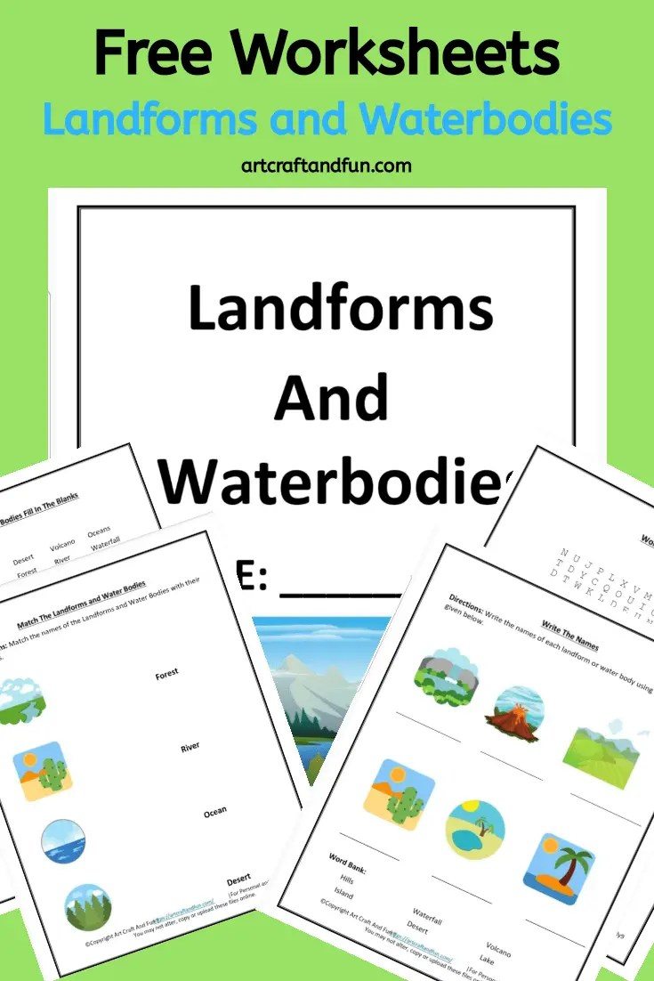 medium resolution of Free Printable Landform Worksheets For Kids