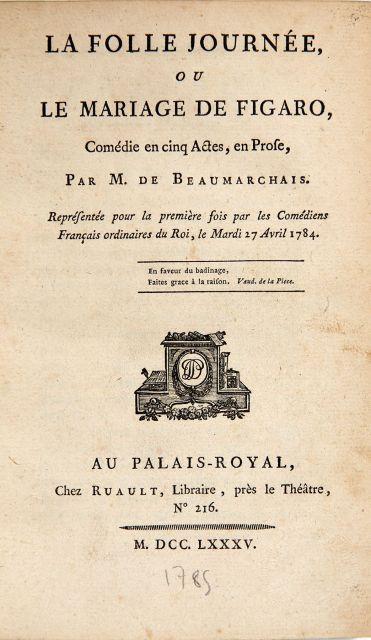 La Folle Journée Ou Le Mariage De Figaro : folle, journée, mariage, figaro, Books, Manuscripts, N°2285, Artcurial