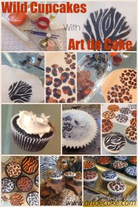 Animal print cupcakes tutorial