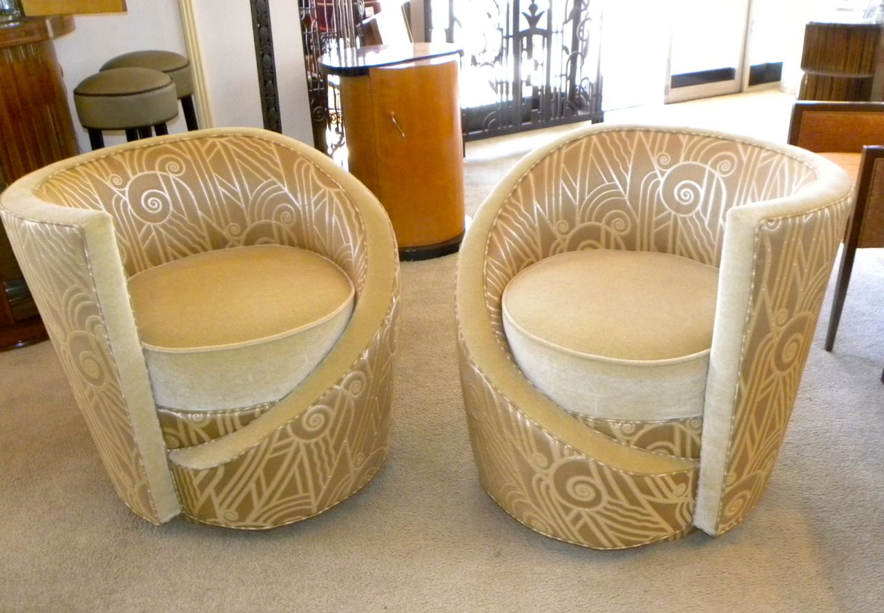 unique chairs folding shower chair hollywood glamour art deco swivel sold