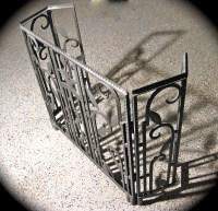 Three Piece Art Deco Iron Fireplace Screen   Sold Items ...