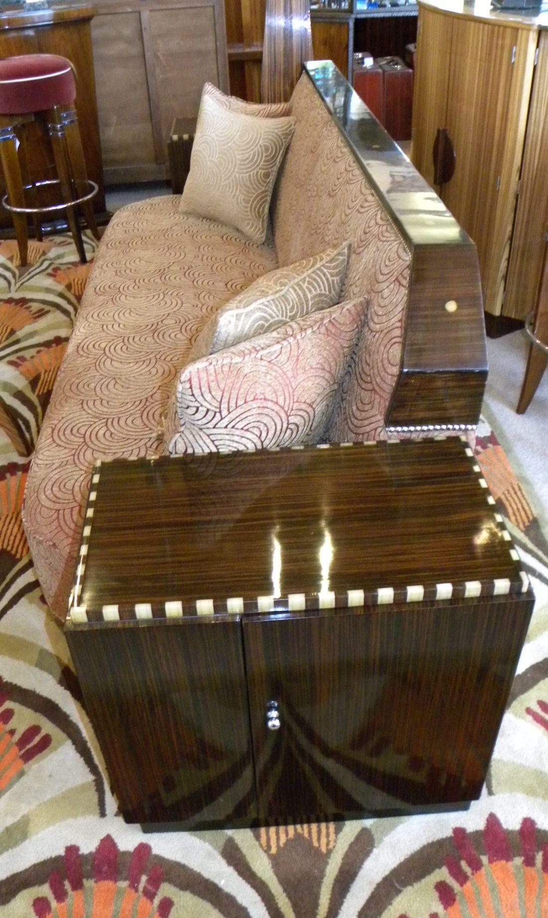 Art Deco Cozy Corner Daybed Sofa  Seating Items  Art